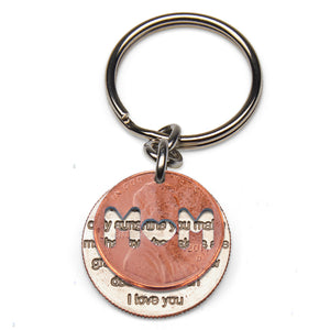 MOM You Are My Sunshine Keychain
