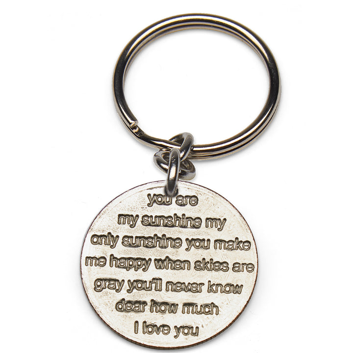 Mariamor You Are My Sunshine Quarter Keychain