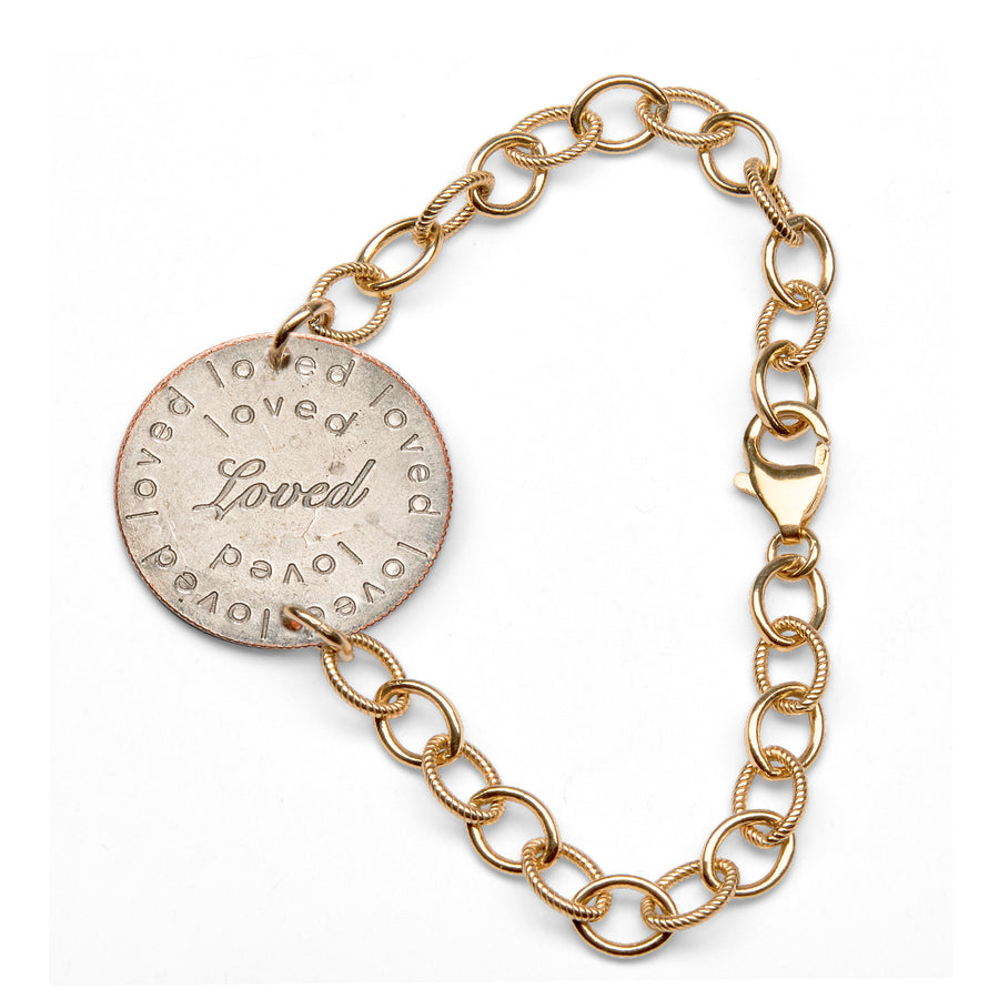 Mariamor Loved Quarter Bracelet, Gold