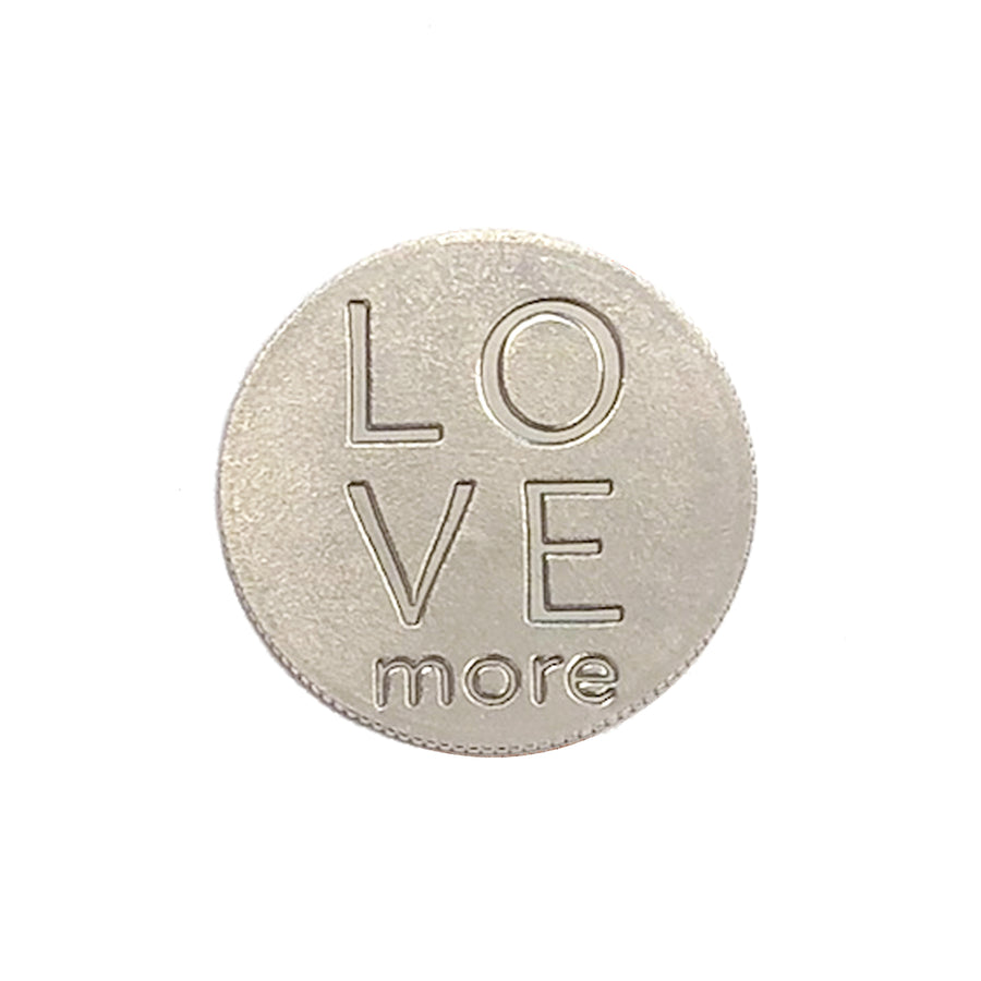 Mariamor Love More Quarter Necklace, Sterling Silver