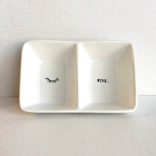 Wink Double Bowl Trinket Tray