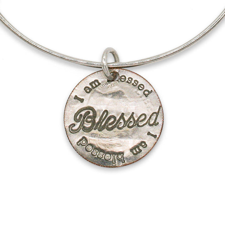 Mariamor Blessed Adjustable Bangle, Sterling Silver