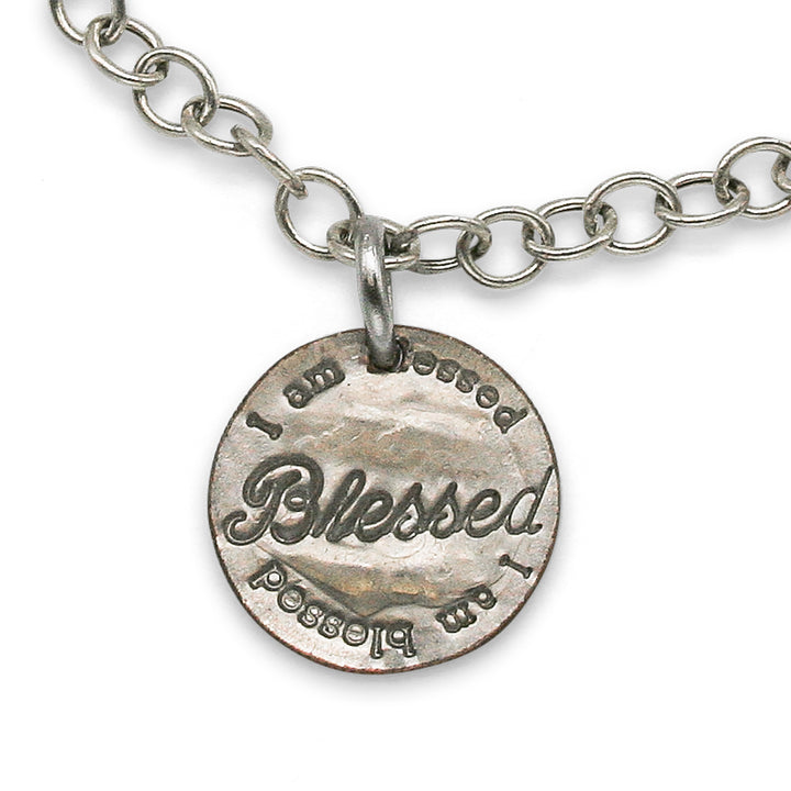 Mariamor Blessed, Silver Cross Charm Bracelet, Sterling Silver