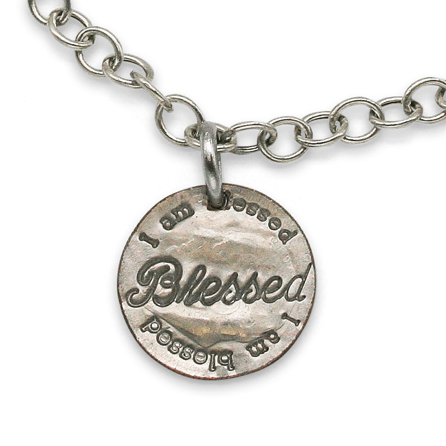 Mariamor Blessed Penny and Silver Cross Charm Bracelet, Sterling Silver