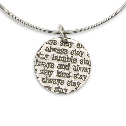 Humble and Kind sterling silver bangle