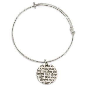 Mariamor Humble and Kind Coin Adjustable Bangle, Sterling Silver