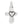 Mariamor Cross with Heart Charm, Sterling Silver