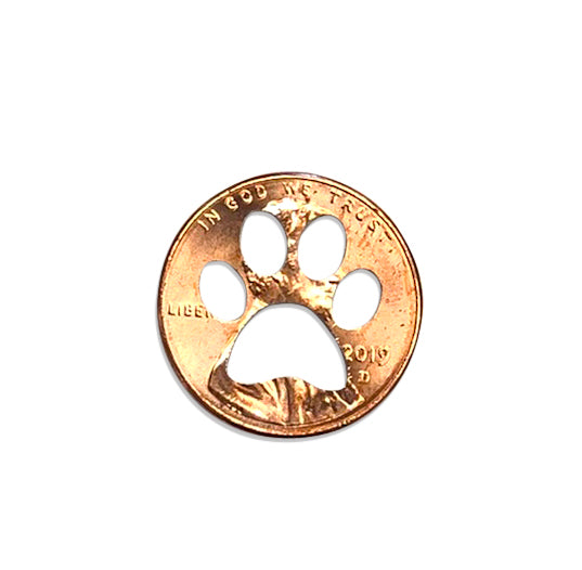Mariamor Paw Print Penny Cutout