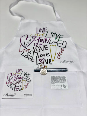 "Mariamor ""Love, Mariamor"" Necklace and Apron Gift Box"