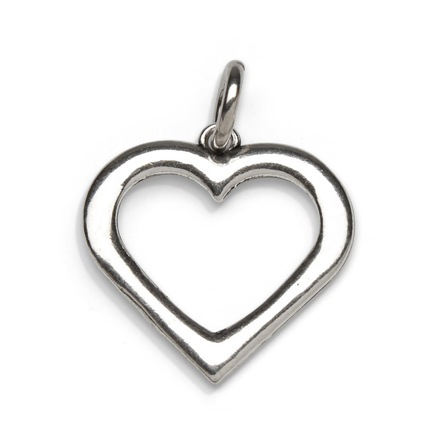 Mariamor Keep An Open Heart Charm, Sterling Silver