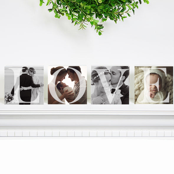 LOVE Acrylic Photo Block Set