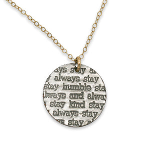 Mariamor Humble and Kind Necklace, Gold