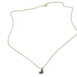 Nickel heart cutout gold necklace