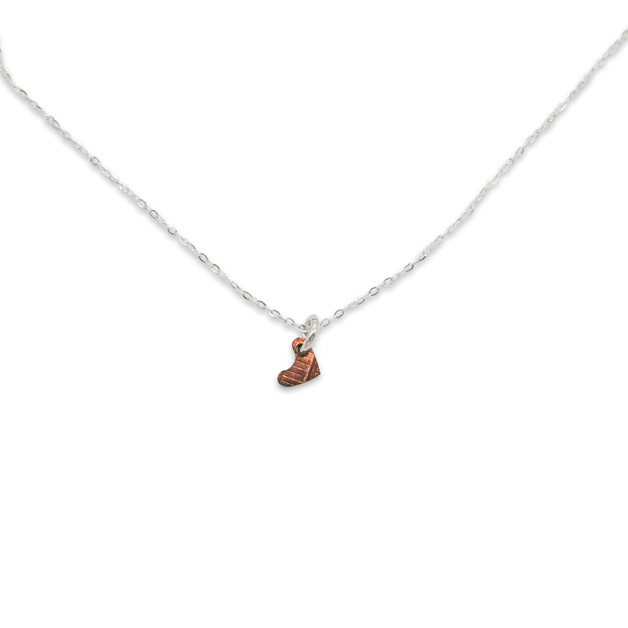 Mariamor Heart Penny Cutout Necklace, Sterling Silver
