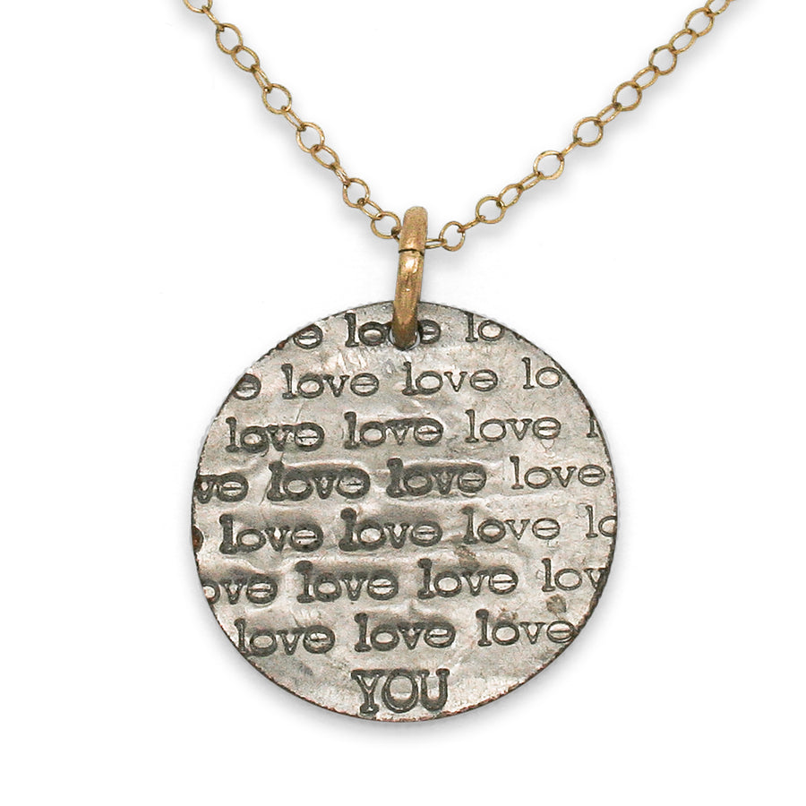Mariamor Love You Necklace, Gold