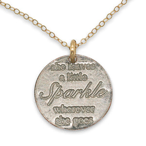 Leave a Little Sparkle gold necklace