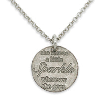 Leave a Little Sparkle sterling necklace
