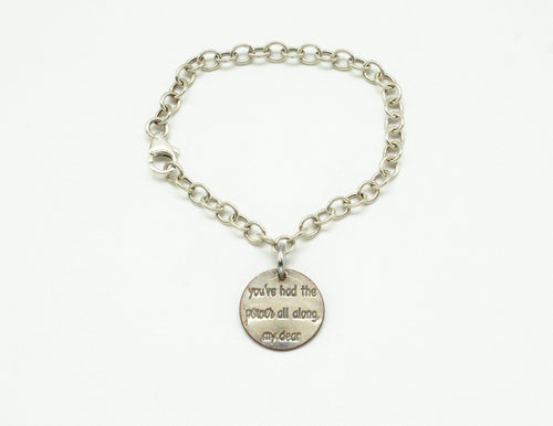 You Had The Power sterling silver charm bracelet