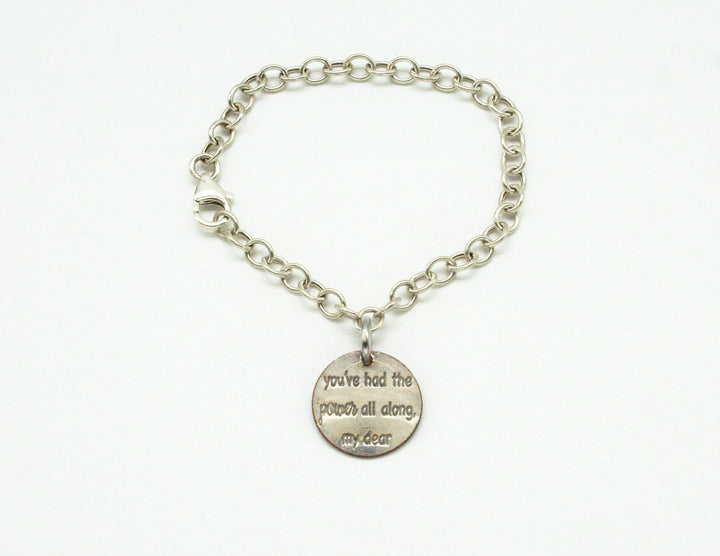 Mariamor You Had The Power Dime Charm Bracelet, Sterling Silver