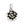 Mariamor Double-Sided Rosebud and Heart Charm, Sterling Silver