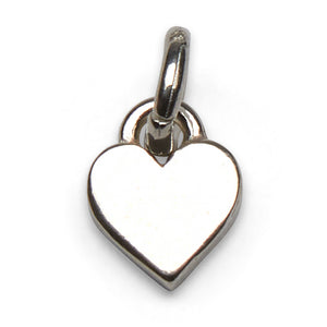 Mariamor Small Solid Heart Charm, Sterling Silver