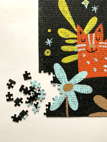 Cat Plants art puzzle by Alisa Wismer.