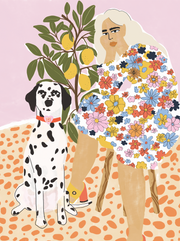 Dog Mom puzzle artwork.