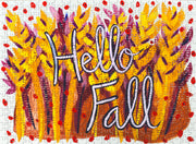 Hello Fall art puzzle by Mel Reese.