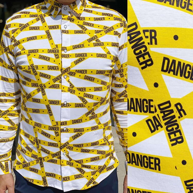 Danger Tape Knit Shirt