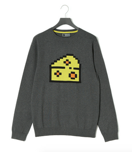 Pixelated CHEESE Intarsia Sweater
