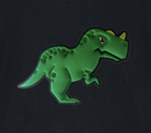 Puffy Embroidery Dinosaur Sweater