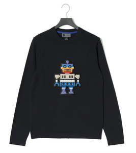 Puffy Embroidery ROBOT Sweater