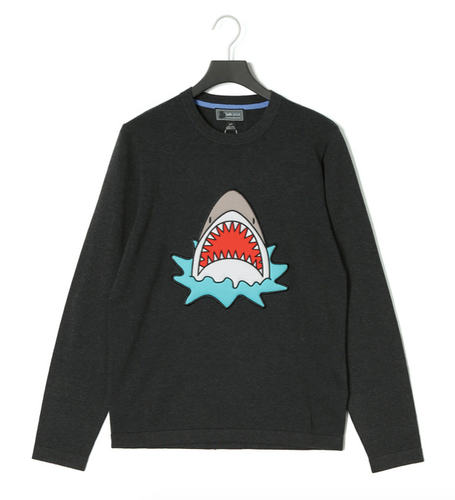 Puffy Embroidery SHARK ALERT Sweater