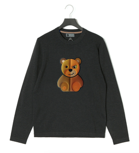 Puffy Embroidery SCARY BEAR Sweater