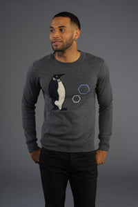 (New) Penguin Graphic Cashmere Blend Sweater