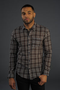 (New) Pure Merino Wool Lightweight Plaid Shirt - Japanese Fabric