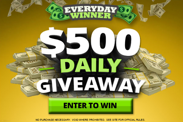 $500 Daily Giveaway
