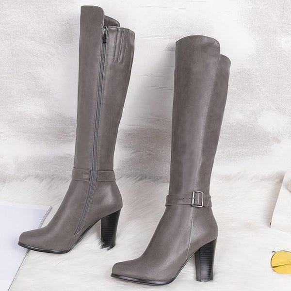 Women's High Heel Knee High Boots-knee high boots-Vinny's Digital Emporium