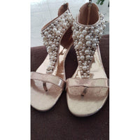 Women's Sandals Wedge High Heel Shoes Open Toe Studded Rhinestone Summer Footwear-shoes-Vinny's Digital Emporium
