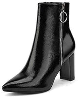 Chunky High Heel Ankle Booties Women's Boots-ankle boots-Vinny's Digital Emporium