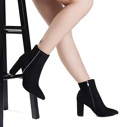 Chunky High Heel Ankle Booties Women's Boots
