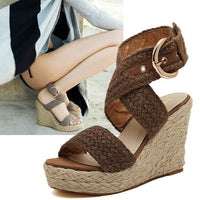 Women's Cork Gladiator High Heel Sandals Wedge Platform Shoes Summer Pumps-shoes-Vinny's Digital Emporium