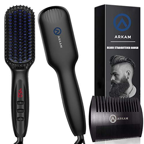 Ionic Beard Straightener Brush For Men With Anti-Scald Feature-beard straightening brush-Vinny's Digital Emporium