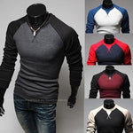 Men Shirts long sleeve T-shirt Slim Tops Tees Knitted Fashion-shirts-Vinny's Digital Emporium