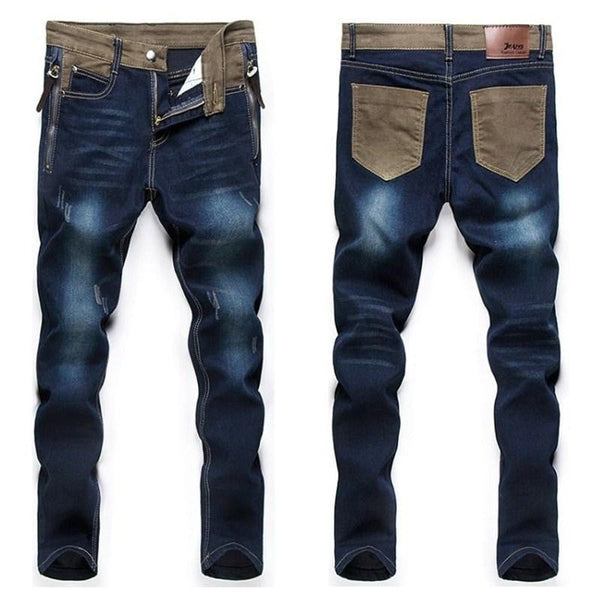 Mens Jeans Loose Pants Denim Fashion Comfortable Straight Trousers-jeans-Vinny's Digital Emporium