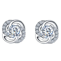 Womens Stud Earrings 925 Sterling Silver Small Ear Buckle Ladies Fashion-Earrings-Vinny's Digital Emporium