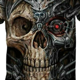 T Shirts Mens Short Sleeves Casual Shirt Skull Print Funny Tops-tshirt-Vinny's Digital Emporium