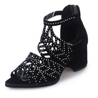 Women's Sandals High Heel Fish Mouth Shoes Rhinestones Open Toe Summer Fashion-shoes-Vinny's Digital Emporium