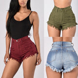 High Waist Ripped Denim Shorts Jean Shorts Mini Shorts For Women-shorts-Vinny's Digital Emporium