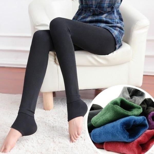 Velour Knitted Legging | Women's Pencil Pants-Leggings-Vinny's Digital Emporium